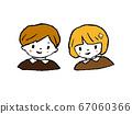 兒童男孩和女孩 67060366