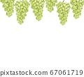 Watercolor illustration with grape pattern 67061719