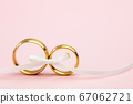 Elegant Wedding or Engagement background - pair of 67062721