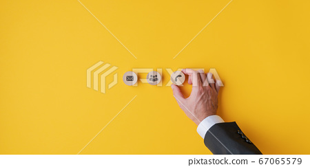 Customer contact and service conceptual image 67065579