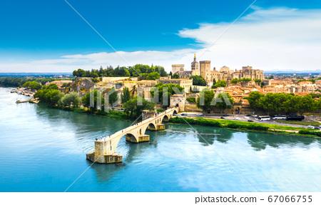 Saint Benezet bridge in Avignon in a beautiful summer day, France 67066755