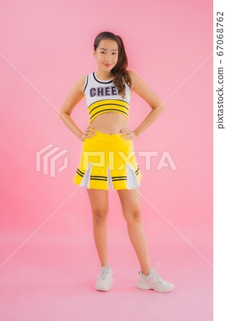 Portrait beautiful young asian woman cheerleader 67068762