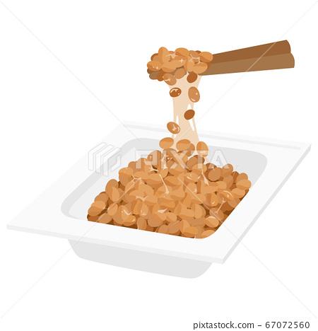 納豆的例證舒展與筷子。. 67072560