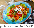 Salad with baked vegetables 67072995