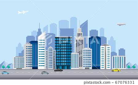 圖庫插圖:城市建築大城市城鎮 67076331