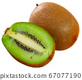 Ripe kiwi isolated over white background 67077190