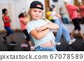 Girl hip hop dancer posing at class 67078589
