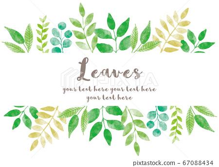 各種leaves_frame_watercolor 02 67088434