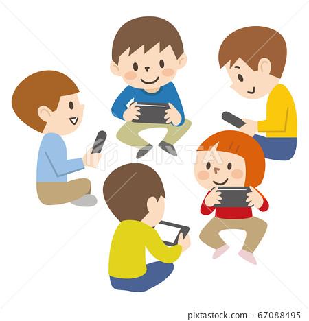 Children playing communication games 67088495