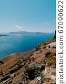 Oia Santorini Greece famous with romantic and beautiful sunsets. Oia village in Santorini island.Greece. 67090622
