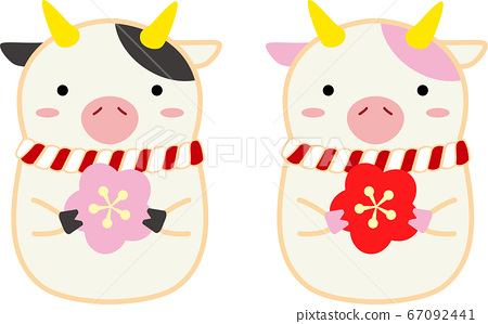 Cow with plum 67092441