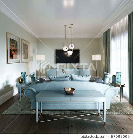 Luxurious fashionable living room with a soft 67095009