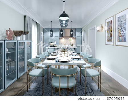 Fashionable dining room design with dining table 67095033
