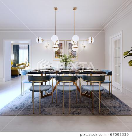 Fashionable designer dining table, black 67095339