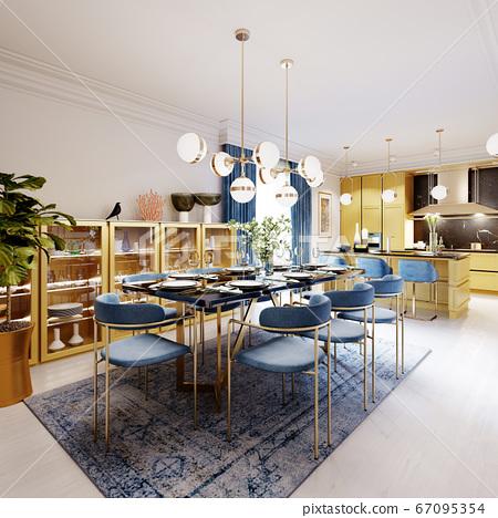 Fashionable designer dining table, black 67095354