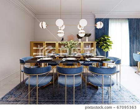 Fashionable designer dining table, black 67095363