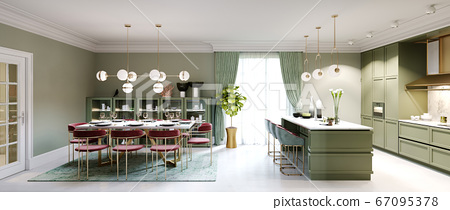 New design pistachio color kitchen with kitchen 67095378