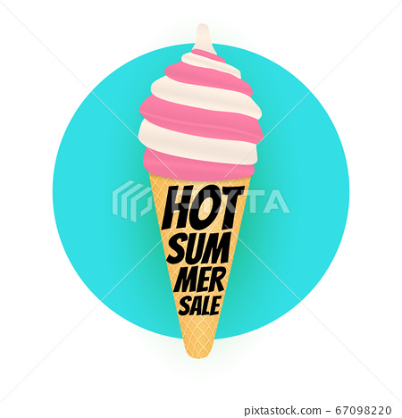 Hot Summer sale poster background with Ice Cream. 67098220