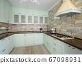 Modern white kitchen clean interior design 67098931