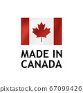 Made in Canada Label, Vector Tag template 67099426