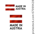 Made in Austria Label, Vector Tag template 67099428