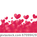 Hearts backdrop with white copy space at top 67099429