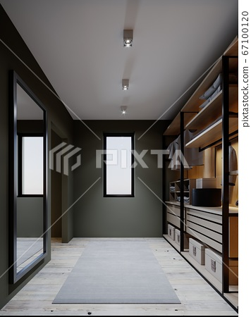 The design of the wardrobe in the bedroom in dark 67100120