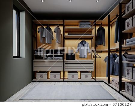 The design of the wardrobe in the bedroom in dark 67100127
