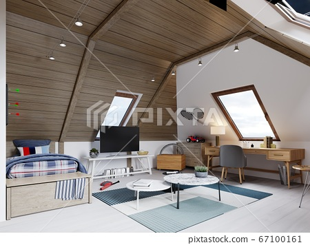 The design of the children's room for the teenager 67100161