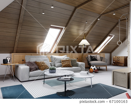 The design of the children's room for the teenager 67100163