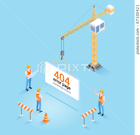 Construction crane hanging 404 error page not 67100421