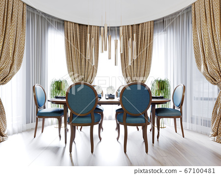 Fashionable designer dining room with dining table 67100481