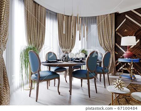 Fashionable designer dining room with dining table 67100484
