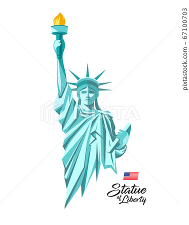 Statue of liberty from United States of america, green design 67100703