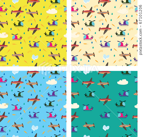 Different kids seamless vector pattern with 67101206