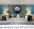 Front view of a luxurious beige sofa in a classic 67102446