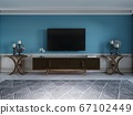 TV unit, TV set in a modern living room in a 67102449