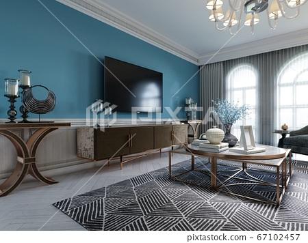 Living room interior in classic Mediterranean 67102457