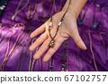 Hand made jewelery at the farmer's market 67102757