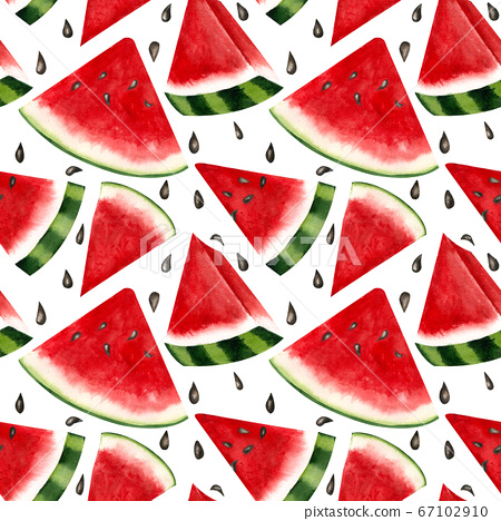 Summer seamless background of juicy watermelon. 67102910