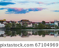 Old town of Minsk in sunset soft light 67104969