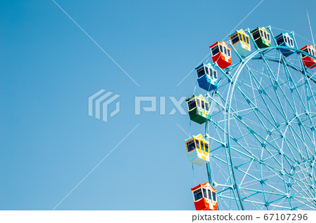 Ferris wheel at Wolmido island in Incheon, Korea 67107296