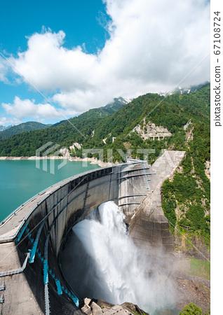 초여름의 구로베 댐 67108724