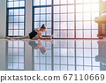 Ballerina cute little girl wear black ballet enjoy 67110669