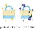 矢量图的清洁和肮脏的环保袋 67113962