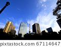 白天的城市天空 67114647