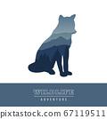 wildlife wolf blue forest landscape silhouette 67119511