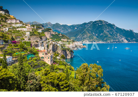 Scenic view of Amalfi Coast, Campania, Italy 67120937