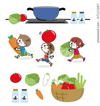 야채 어린이 식육 세트 67121067