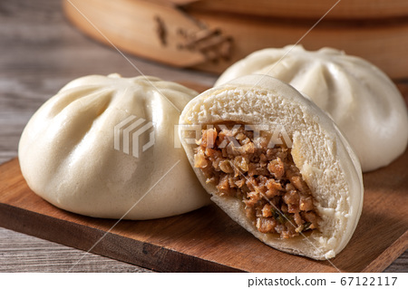 包子 肉包 蒸籠 中式 小吃 料理 美食 baozi meat bun 肉まん 肉まんじゅう 67122117